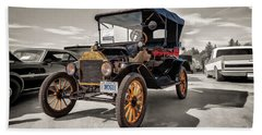 1916 Ford Model T Beach Towel