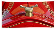 1919 Ford Volunteer Fire Truck Beach Towel