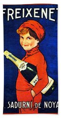 1920 - Freixenet Wines - Advertisement Poster - Color Beach Towel