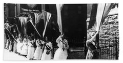 1920 Suffrage Demonstrators Beach Towel