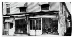 1920s Storefront Of Ford Automobile Beach Towel