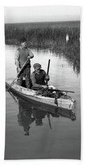 1920s Two Men Duck Hunters Beach Towel