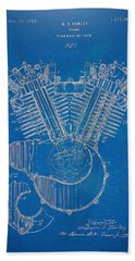 1923 Harley Davidson Engine Patent Artwork - Blueprint Beach Sheet