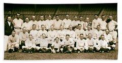 1926 New York Yankees Beach Towel by Mountain Dreams