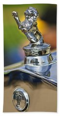 1927 Franklin Sedan Hood Ornament Beach Towel