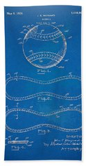 1928 Baseball Patent Artwork - Blueprint Beach Sheet