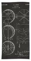 1929 Basketball Patent Artwork - Gray Beach Sheet by Nikki Marie Smith