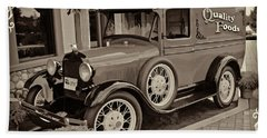 1930 Ford Panel Truck Beach Towel