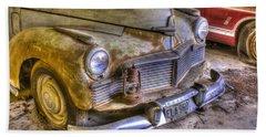 1930s Mercury With Lantern On Bumper Beach Sheet