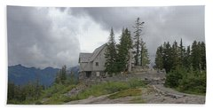 1933 Ccc Forest Ranger Station At Mt Baker Washington Beach Sheet by Tom Janca