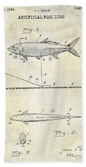 1934 Artificial Fish Lure Patent Drawing Beach Towel