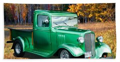1934 Chev Pickup Beach Towel