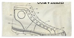 1934 Converse Shoe Patent Drawing Beach Towel