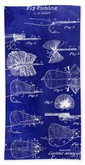 1934 Fly Fishing Lures  Beach Towel
