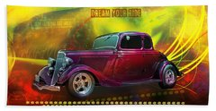 1934 Ford 5 Window Gennie Beach Towel