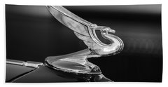 1935 Chevrolet Sedan Hood Ornament -479bw Beach Towel