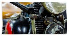 1936 El Knucklehead Harley Davidson Motorcycle Beach Towel
