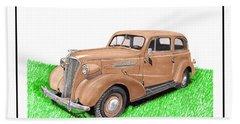 1937 Chevy Master Deluxe 2 Dr Sedan Beach Towel