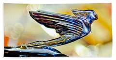 1938 Cadillac V-16 Hood Ornament 2 Beach Towel