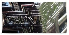 1938 Chevrolet Sedan Emblem Beach Towel