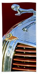 1938 Dodge Ram Hood Ornament 3 Beach Towel