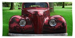 1938 Ford Coupe Beach Towel
