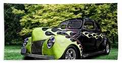 1939 Ford Coupe Beach Towel