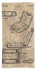 1939 Vanity Case Patent Beach Towel