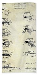 1940 Artificial Fishing Bait Patent Drawing Beach Towel