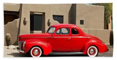1940 Ford Deluxe Coupe Beach Towel