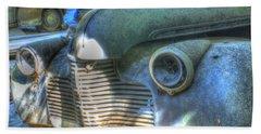 1940s Antique Chevrolet Hood View Beach Sheet