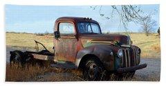1940s Ford Farm Truck Beach Towel