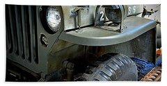 1942 Ford U.s. Army Jeep Ll Beach Towel