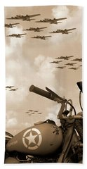1942 Indian 841 - B-17 Flying Fortress' Beach Towel