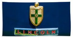1942 Lincoln Continental Cabriolet Emblem Beach Towel