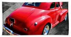 1948 Series 2100 Fk Fleetmaster Gangster Red On Asphalt Beach Towel
