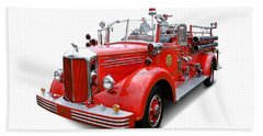 1949 Mack Fire Truck Beach Towel