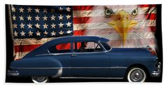 Beach Towel featuring the photograph 1949 Pontiac Tribute Roger by Peter Piatt