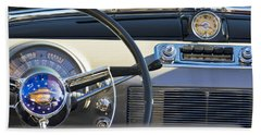 1950 Oldsmobile Rocket 88 Steering Wheel 3 Beach Towel
