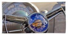 1950 Oldsmobile Rocket 88 Steering Wheel Beach Towel
