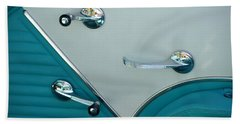 Beach Towel featuring the photograph 1950's Chevy Interior by Dean Ferreira
