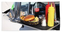 1950's Drive In Movie Snack Tray Beach Towel