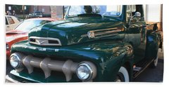 1952  Ford Pick Up Truck Front And Side View Beach Towel