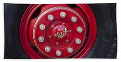 1952 L Model Mack Pumper Fire Truck Wheel Beach Towel by Jill Reger