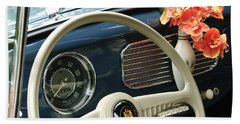1952 Volkswagen Vw Bug Steering Wheel Beach Towel