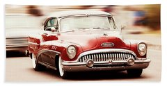 Old Cars Beach Towel featuring the photograph 1953 Buick Super by Aaron Berg