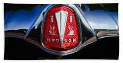 1953 Hudson Hornet Sedan Emblem Beach Towel
