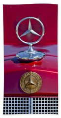1953 Mercedes Benz Hood Ornament Beach Towel