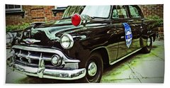1953 Police Car Beach Towel