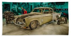 1953 Studebaker Hawk Beach Towel by Yo Pedro